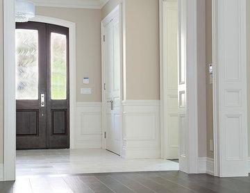 Lite Over Panel Mahogany with 2 Side Light & Custom Glass