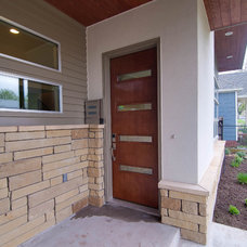 Contemporary Entry by Brodie Builders
