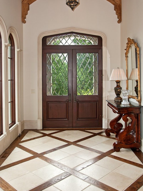 Foyer Tile Floor Designs : Mixed flooring houzz