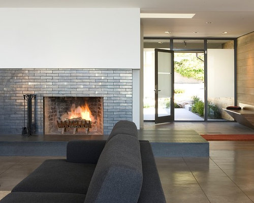 craftsman fireplace tile home design ideas pictures