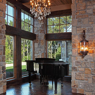 Inspiration for a rustic entrance in Minneapolis.