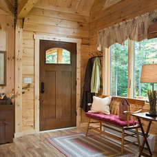 Rustic Entry by Coventry Log Homes