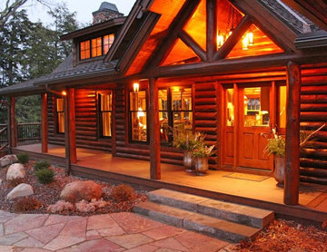 Log Lodge Lake Home Main Entry Door