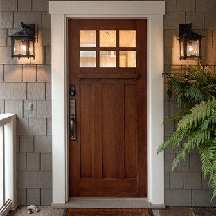 サンタバーバラの広いおしゃれな玄関の写真