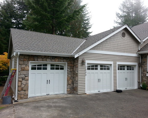 Lookout point covered porch and third car garage addition for Cost of 3 car garage addition