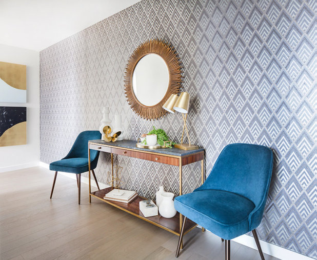 Midcentury Entry By Lindye Galloway Interiors