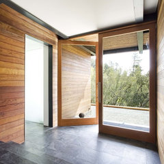 modern entry by Quezada Architecture