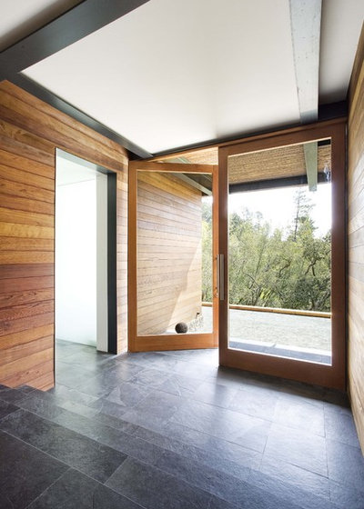 Modern Entrance by Quezada Architecture
