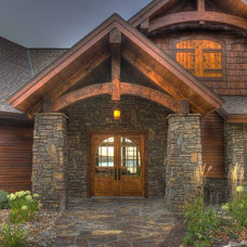 Rustic Entry by Lands End Development - Designers & Builders