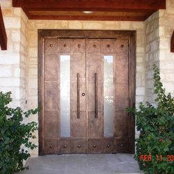 Luce with Rivets - Cantera Doors - Luce with Rivets Entry Door
