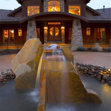 Luxury Lodge-Style Home - Entryway Exterior