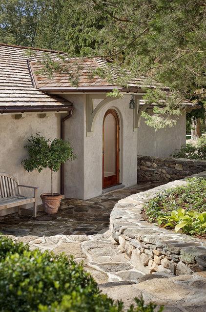 Mediterranean Entry by Nautilus Architects LLC