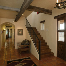 Rustic Entry by Lynne Barton Bier - Home on the Range Interiors