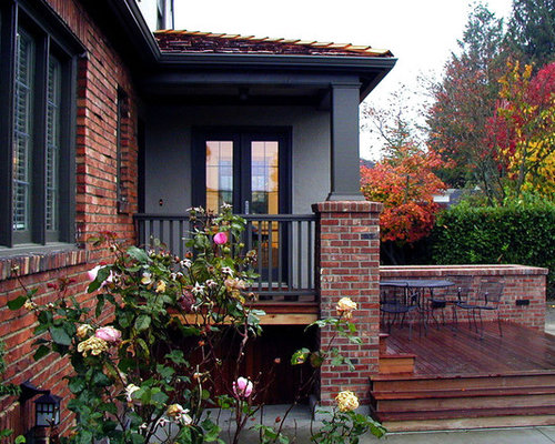 exterior paint colors with red brick trim houzz. Black Bedroom Furniture Sets. Home Design Ideas