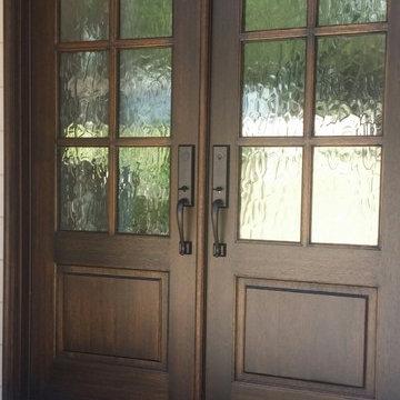 Mahogany Double Door