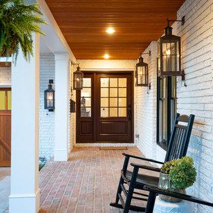 75 Beautiful Mid Century Modern Brick Floor Entryway Pictures Ideas August 2020 Houzz
