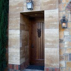 Mediterranean Entry by James Glover Residential & Interior Design