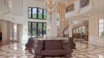 Marble Floor: Crema Marfil, Emperador Light