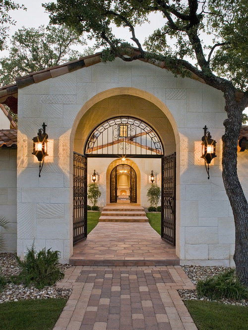 portico entry gate arch houzz. Black Bedroom Furniture Sets. Home Design Ideas