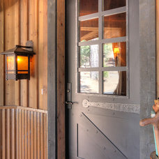 Rustic Entry by Studio V Interior Design