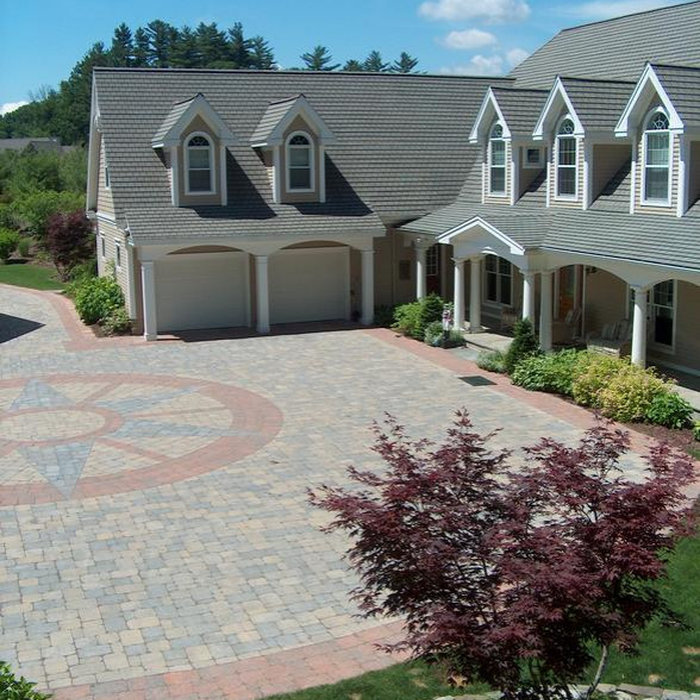 Driveway courtyard that was installed by Peter Atkins and Associates masons department.