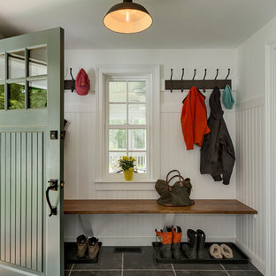 Country mudroom in New York.