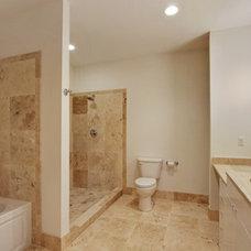 Contemporary Entry master bath