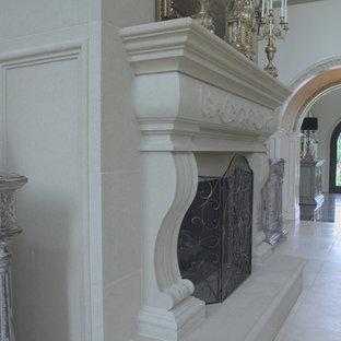 Mayo Fireplace, semi-profile