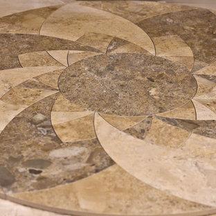 Entryway - traditional porcelain floor entryway idea in Toronto with beige walls