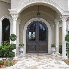 Mediterranean Entry by Arieno Custom Home Design