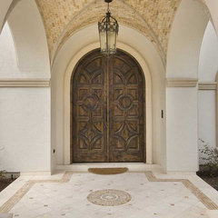 mediterranean entry by Architectural Designs