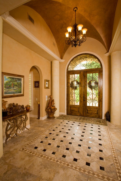 Mediterranean Entry by Jim Boles Custom Homes