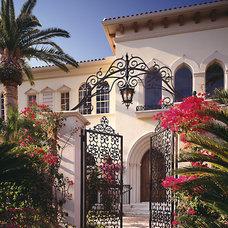 Mediterranean Entry by Marc-Michaels Interior Design
