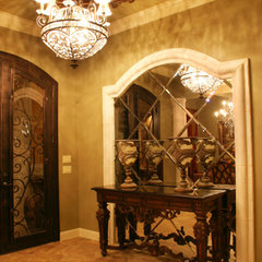 mediterranean hall by Diamante Custom Homes