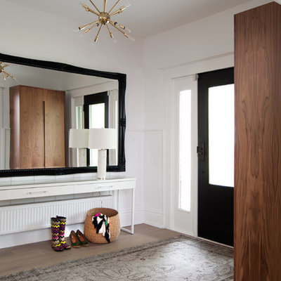 Example of a trendy entry hall design in Toronto