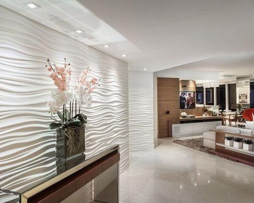 hall d 39 entr e moderne avec un sol en marbre photos et id es d co de halls d 39 entr e de maison. Black Bedroom Furniture Sets. Home Design Ideas
