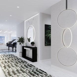 Entrée moderne avec un sol en marbre : Photos et idées déco ...