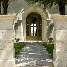 Mediterranean Entry by Jarosz Architect, P.A.
