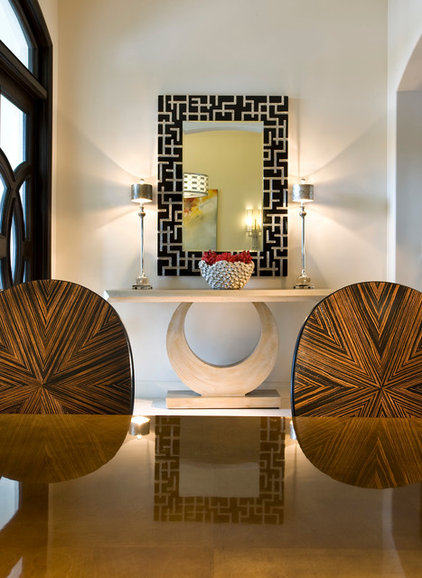 Modern Entry by Culbertson Durst Interiors