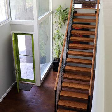 Mid Century Modern Open Staircase