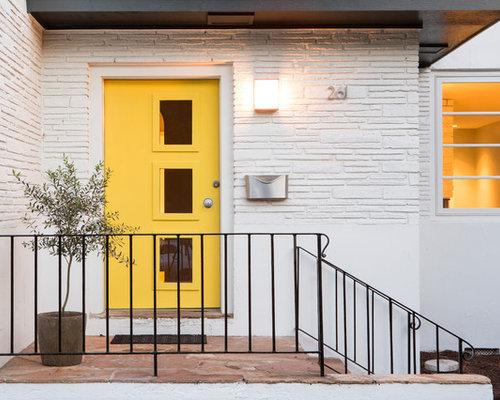 Best 70 Midcentury Modern Slate Floor Entryway Ideas | Houzz