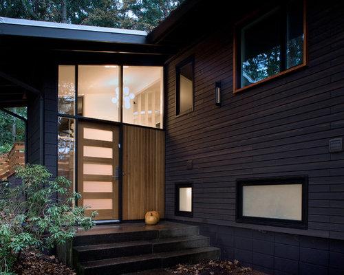 Midcentury front door design ideas renovations photos - Mid century front door ...