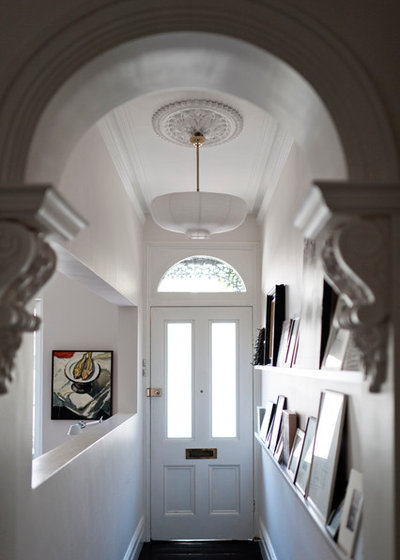 Midcentury Entrance by ANNA CARIN Design