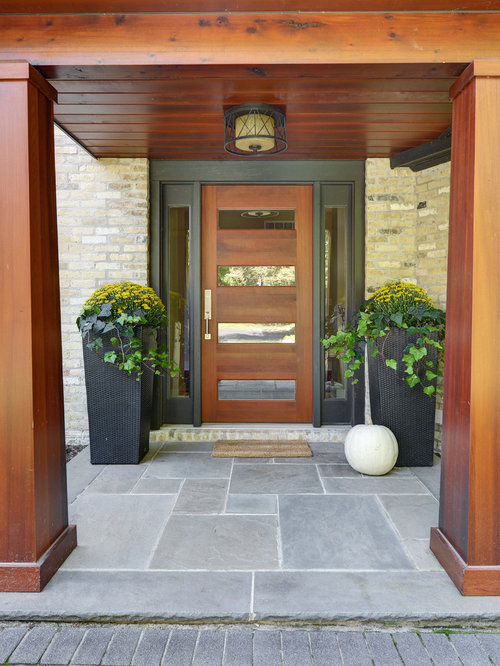 Contemporary front doors home design ideas pictures for Modern front door decor