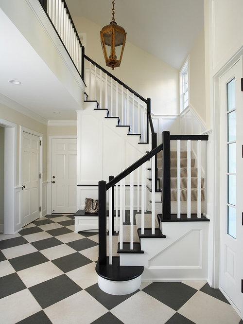 Inspiration For A Large Timeless Multicolored Floor Foyer Remodel In  Minneapolis With Beige Walls