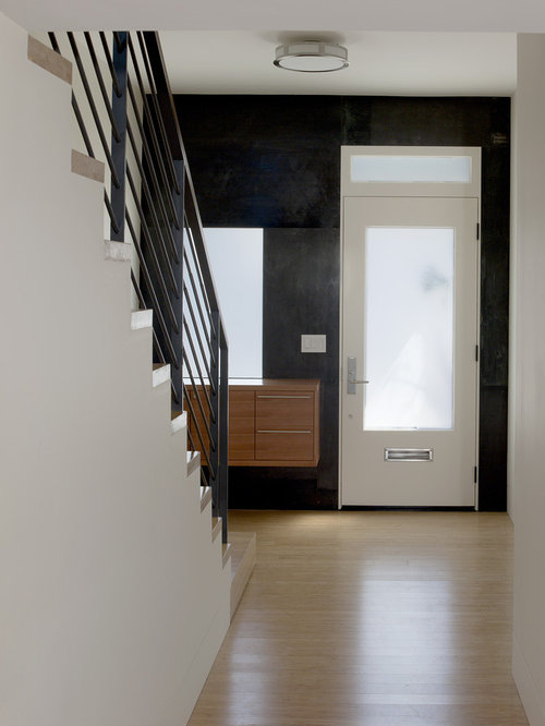 hall d 39 entr e avec un mur noir photos et id es d co de. Black Bedroom Furniture Sets. Home Design Ideas