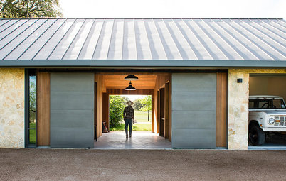 Planned Garage Evolves Into a Multifunctional Modern Barn