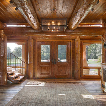 Modern Day Log Cabin - The Bowling Green Residence - Entryway