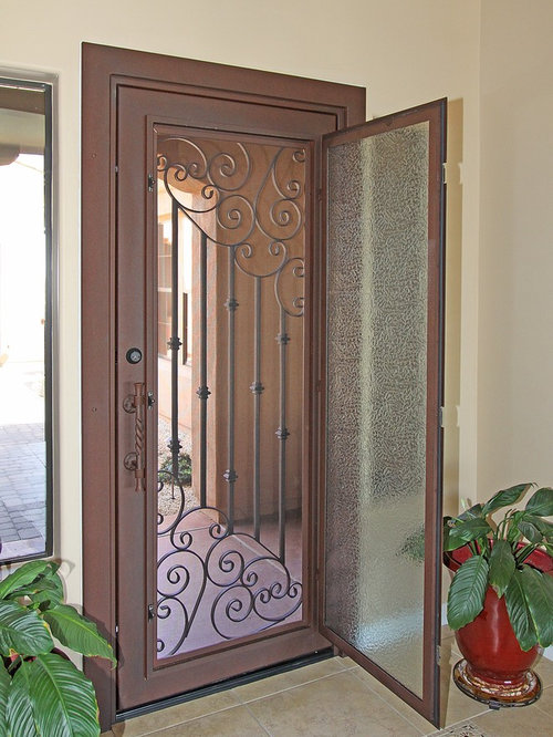 Jali designs entryway design ideas remodels photos for Door design steel jali