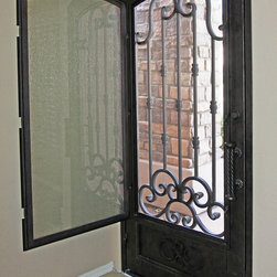 Iron Entry Doors - All First Impression Security Doors Custom Made Security Entry Doors come with a screen so you can enjoy the safety of the security door while getting a cool cross breeze in your home on those Spring and Fall weather days!